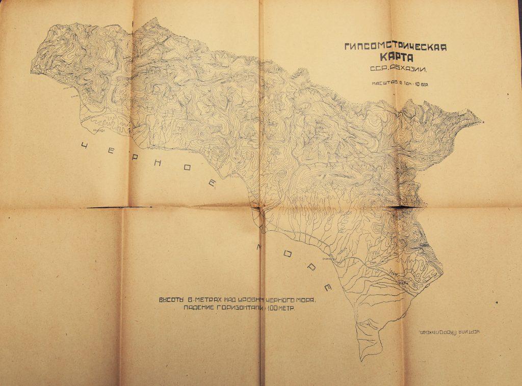Гипсомстрическая карта Абхазии