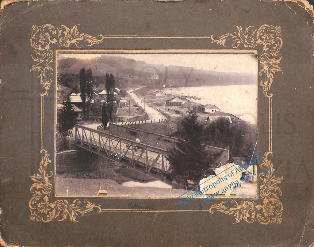 Дореволюционная фотография с видом на мост через р. Гудоу