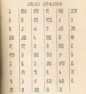 Абхазский алфавит на основе грузинского